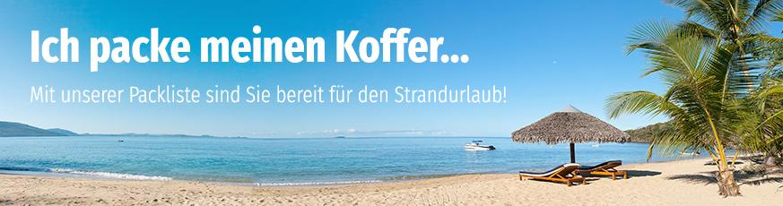 Müller Packliste für den Strandurlaub