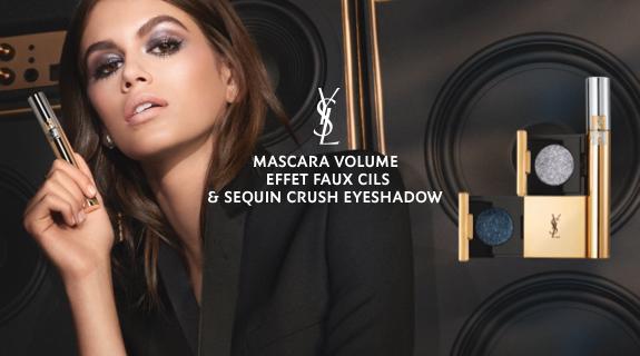 Mascara Volume Effet Faux Cils & Sequin Crush Eyeshadow Black Opium Yves Saint Laurent