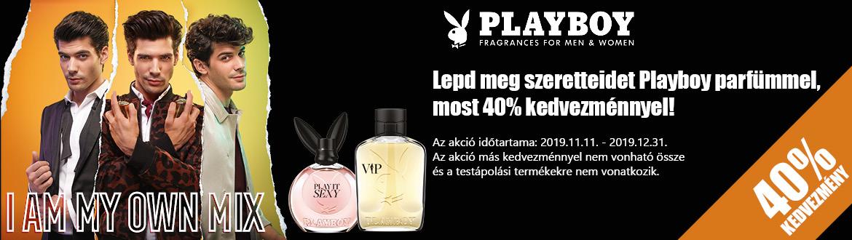 Vásárolj most Playboy parfümöt 40% kedvezménnyel!