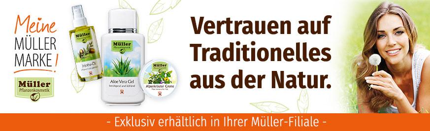 Müller Pflanzenkosmetik - Vertrauen auf Traditionelles aus der Natur