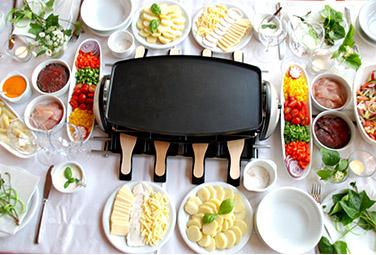 Kreative herzhafte Raclette-Ideen