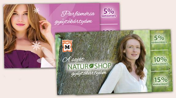 Parfüméria és naturshop gyűjtőkártyák