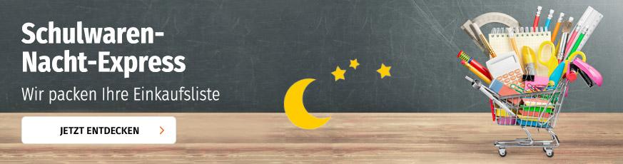 Schulwaren-Nacht-Express