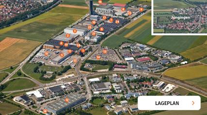 Lageplan Zentrale Ulm-Jungigen