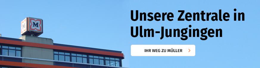 Unsere Zentrale in Ulm-Jungingen