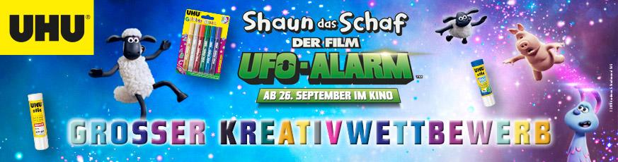 Shaun das Schaf Ufo-Alarm Kreativwettbewerb