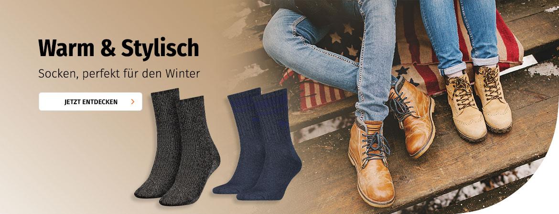 Warme Socken für den Winter