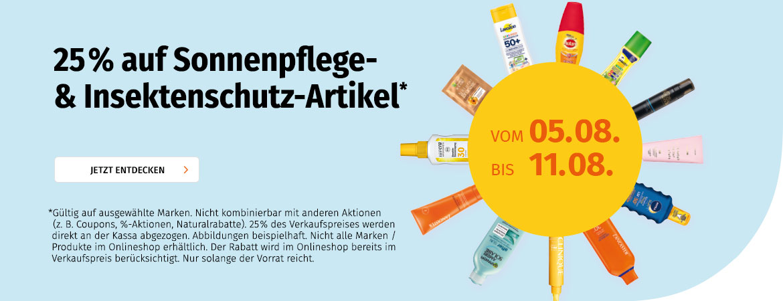 20% auf Sonnenpflege- & Insektenschutzartikel