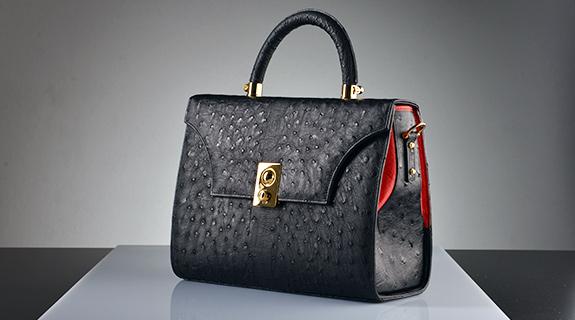 Straußenleder Handtaschen