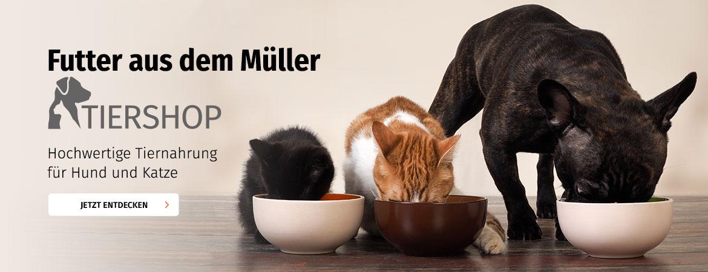 Tierfutter aus dem Müller Tiershop