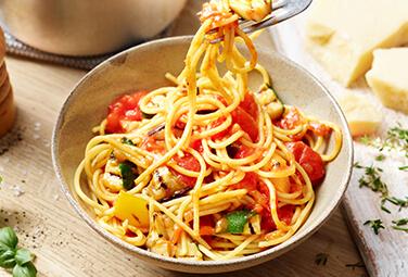 Tomatensauce mit Grillgemüse