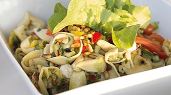 Beluga lencsés tortellini saláta - vegán