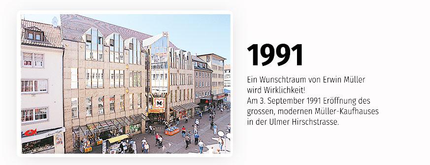 Neu und modern - die Müller-Filiale in der Ulmer Hirschstrasse