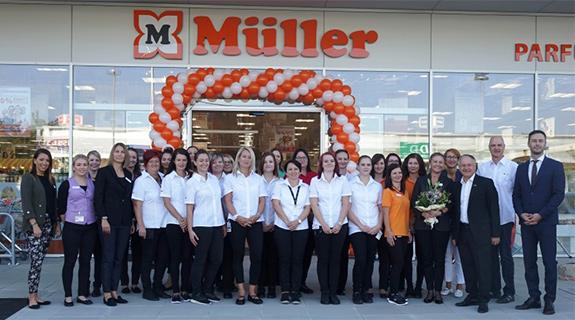 Es gibt 70 Müller-Filialen in Österreich