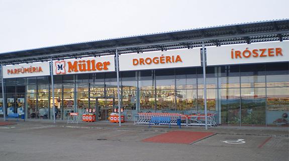 Müller in Ungarn - Filialansicht