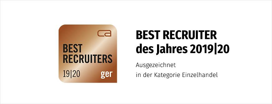 Bronze Siegel Best Recruiter 2019/20