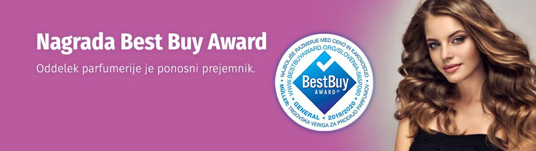 Best Buy Award - ponosni prejemnik nagrade je oddelek parfumerije