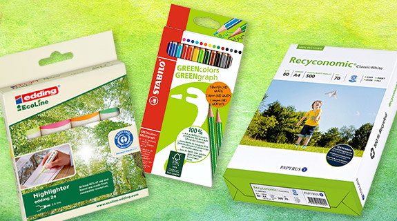 Ökologischer Schulbedarf bei Müller