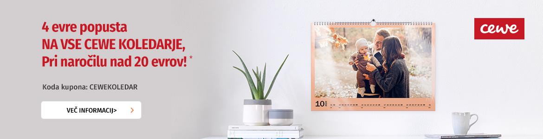 Oblikujte svoj CEWE koledar - v oktobru kar 4 evre ugodneje