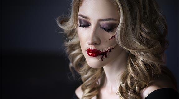Maquillaje con heridas
