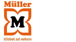 Alapértelmezett logó szlogennel – MÜLLER. Többet ad nekem.