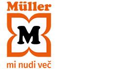 splošen logotip s sloganom - MÜLLER. Mi nudi več.