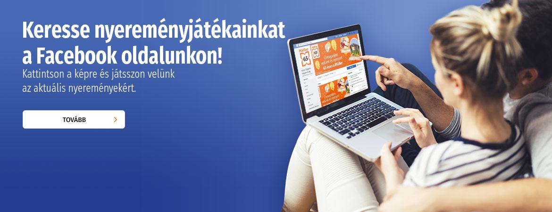 Keresse nyereményjátékainkat a Facebook oldalunkon!