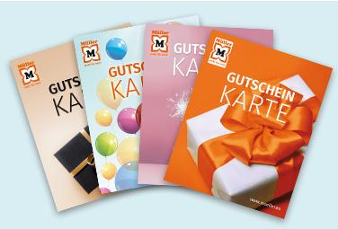 Gutschein-Karten bei Müller