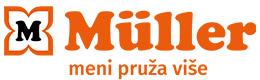 Vodoravni logo sa sloganom: MÜLLER – meni pruža više
