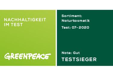 Müller Österreich ist Testsieger beim unabhängigen Greenpeace-Marktcheck Naturkosmetik 2020