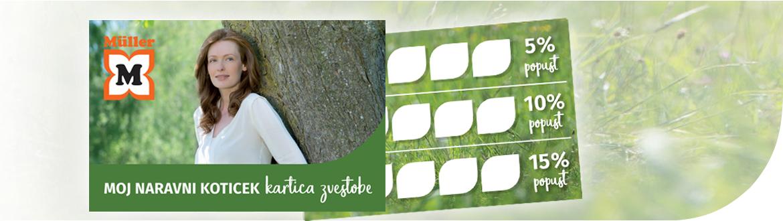 Moj naravni kotiček - kartica zvestobe